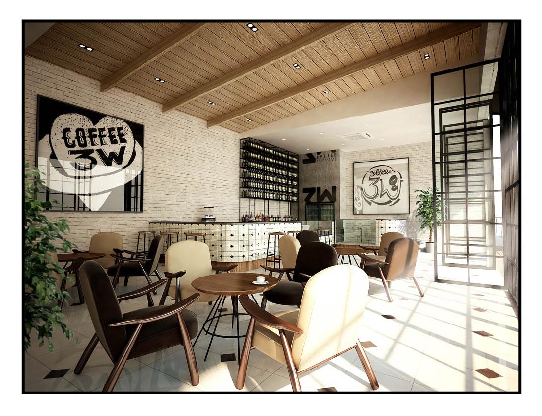 新店室内设计图:3层屋顶花园吧台服务区(套用汽车圈的话说,谍照首次
